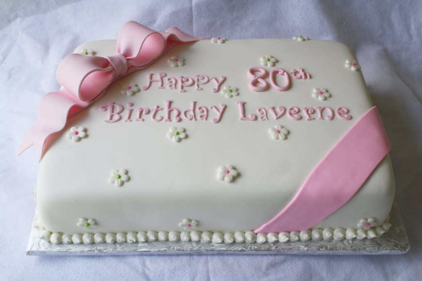 80Th Birthday Cake Ideas Pink Green Sheet Cakes For 1st And 80th Birthdays