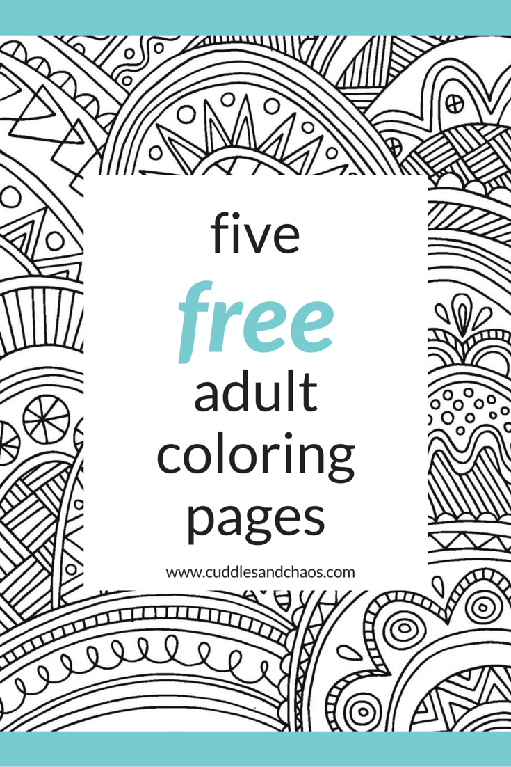 Adult Coloring Pages Treat Yo Self Free Adult Coloring Pages Cuddles Chaos