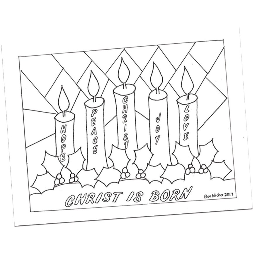 Advent Wreath Coloring Page Advent Wreath Coloring Page Bev Wicher Visual Faith Ministry