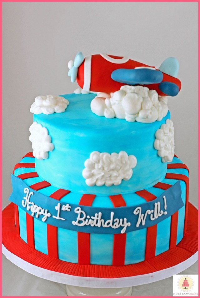 Airplane Birthday Cake Blue And Red Airplane Birthday Cakekidscakes Stuff For My Nephew