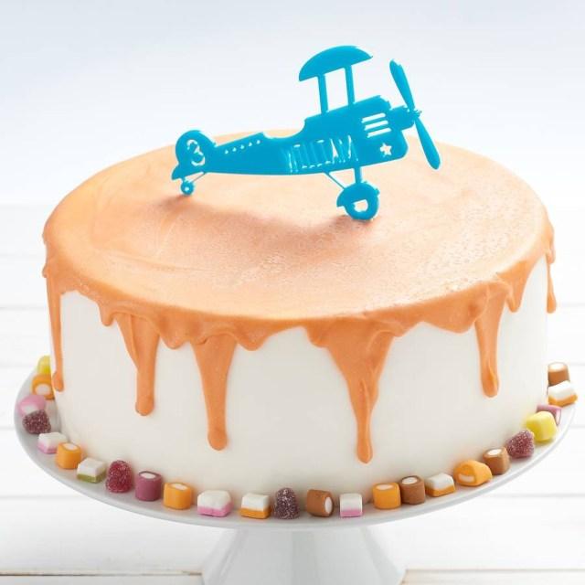 Airplane Birthday Cake Personalised Airplane Birthday Cake Topper Owl Otter