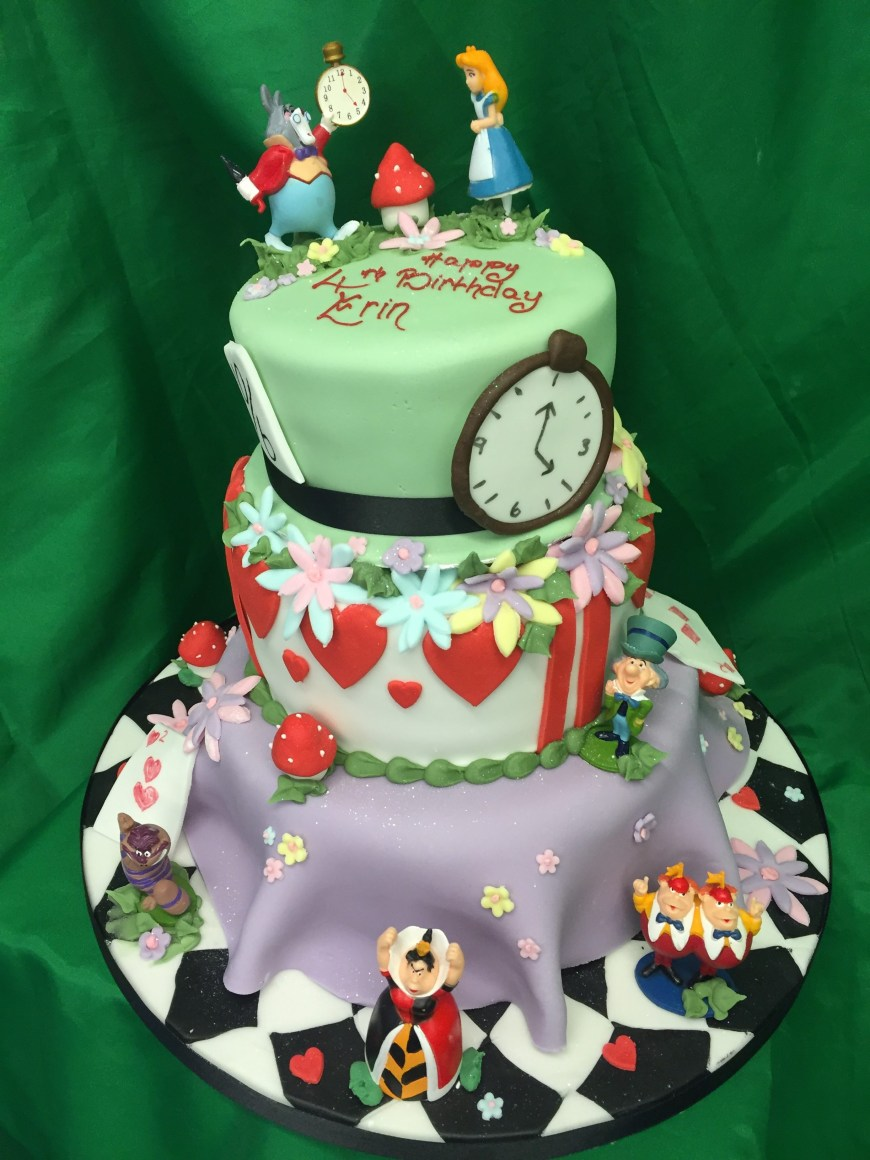 Alice In Wonderland Birthday Cake 3 Tier Alice In Wonderland Birthday Cake M Rays Bakery
