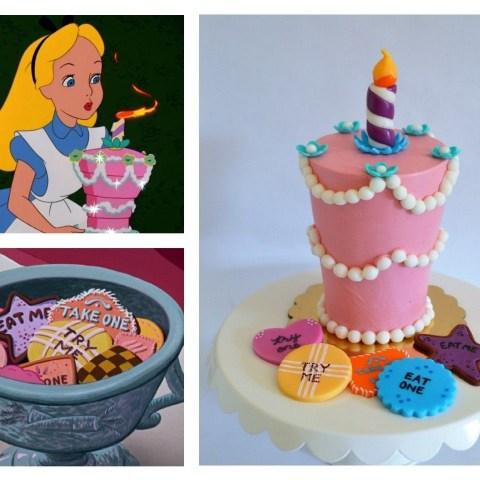 Alice In Wonderland Birthday Cake Alice In Wonderland Unbirthday Cake Smash Cake With Fondant Try