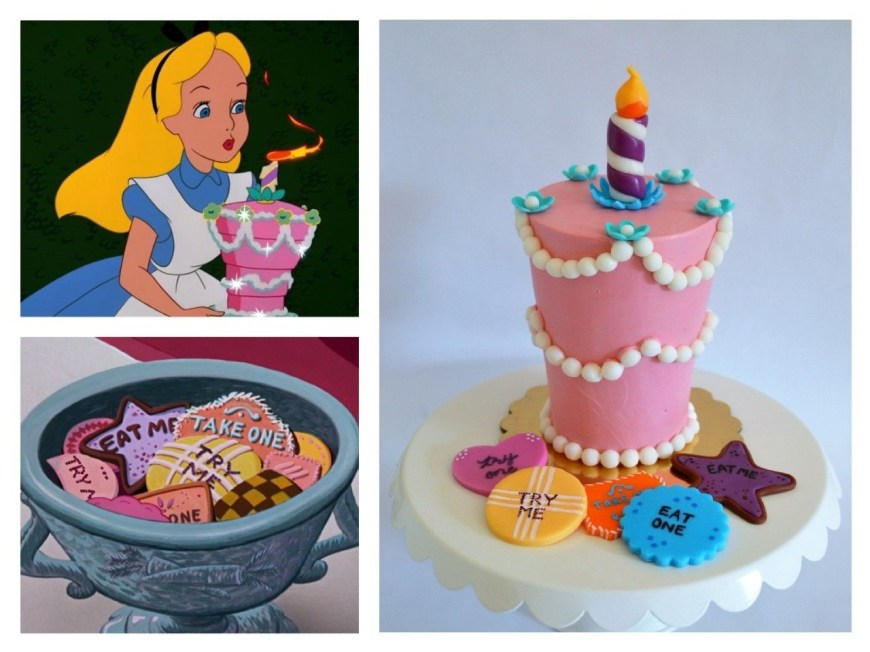 Alice In Wonderland Birthday Cake Alice In Wonderland Unbirthday Cake Smash Cake With Fondant Try