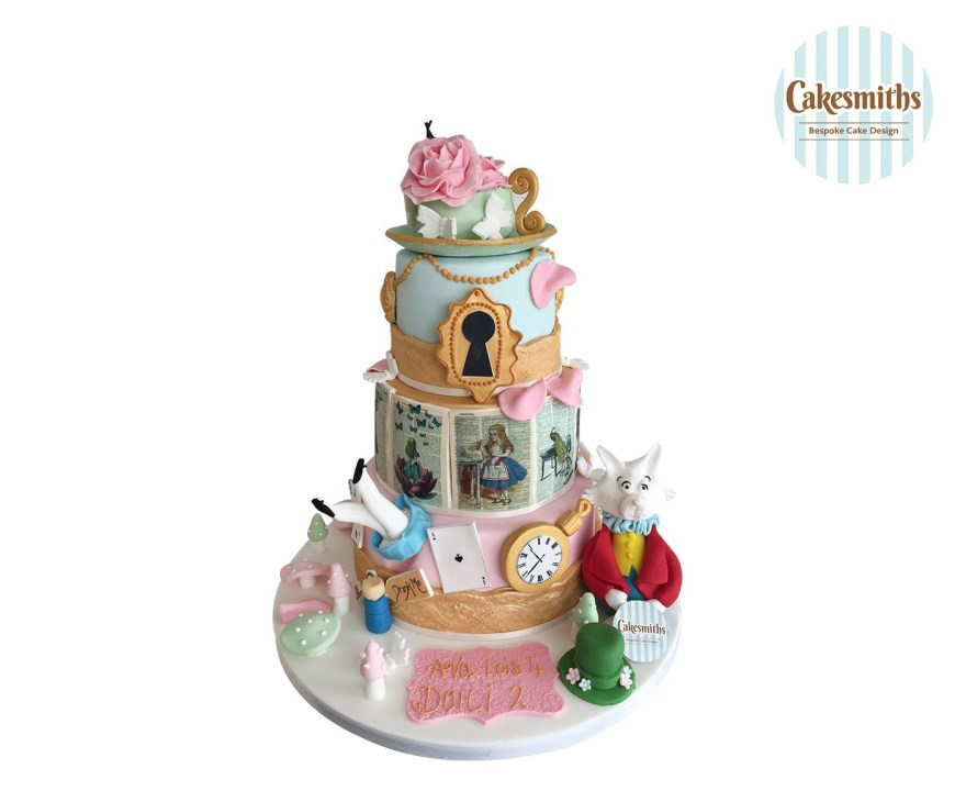 Alice In Wonderland Birthday Cake Alice Wonderland Themed Birthday Cake