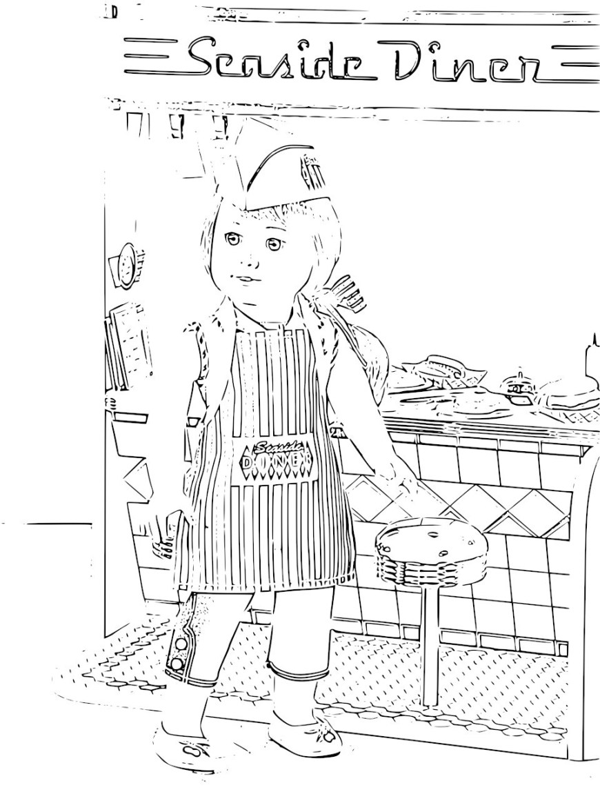 American Girl Doll Coloring Pages American Girl Doll Printables