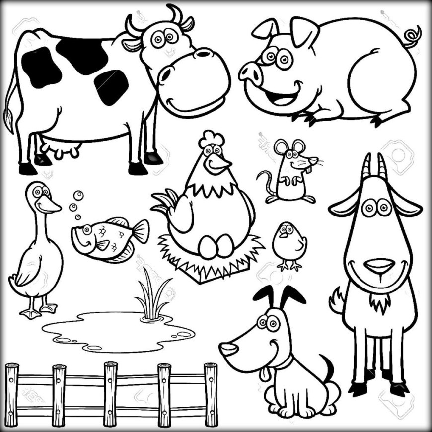 Animals Coloring Pages Download Farm Animals Coloring Pages For School Color Zini