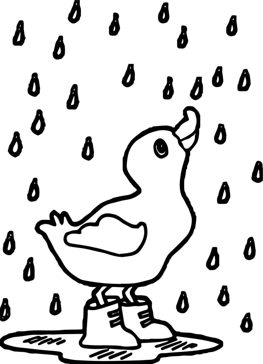 April Coloring Pages April Rain Coloring Pages With Rain Duck April Coloring Page