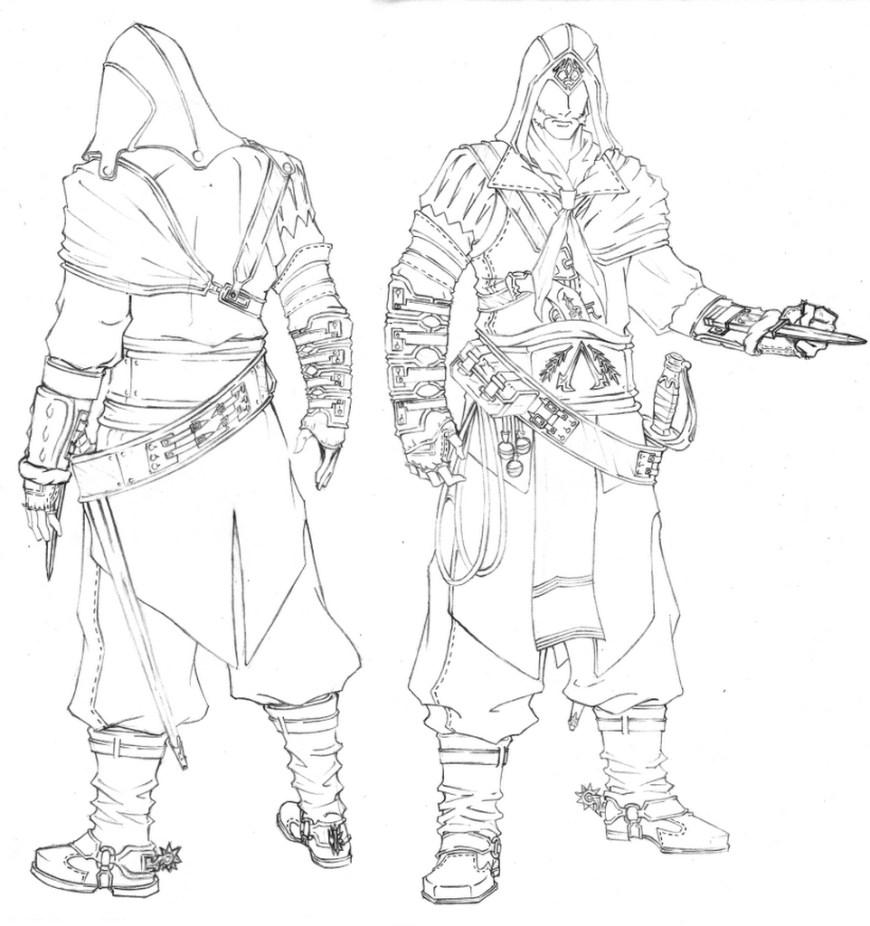 Assassin's Creed Coloring Pages Assassins Creed 27 Video Games Printable Coloring Pages