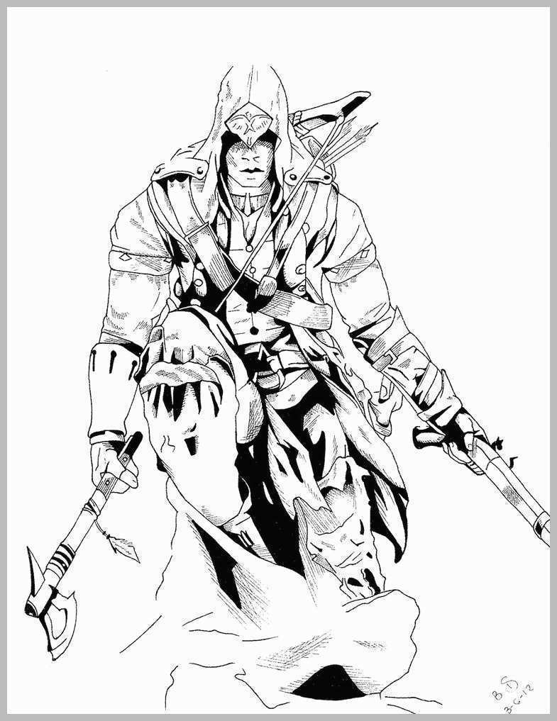 Assassin's Creed Coloring Pages Assassins Creed Coloring Pages Cute Home Improvement Assassins