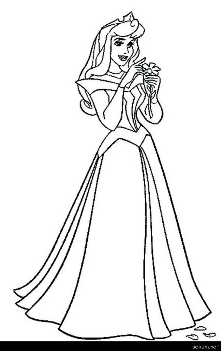 Aurora Coloring Pages Coloring Pages Sleeping Beauty Princess Aurora Count Her Luck In