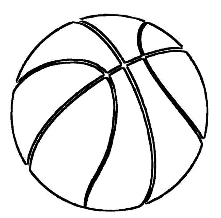 Ball Coloring Pages Basket Ball Coloring Pages