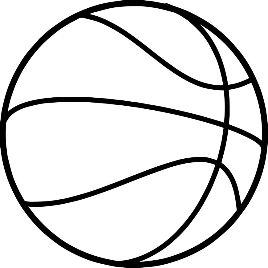 Ball Coloring Pages Fine Basketball Ball Coloring Page Wecoloringpage