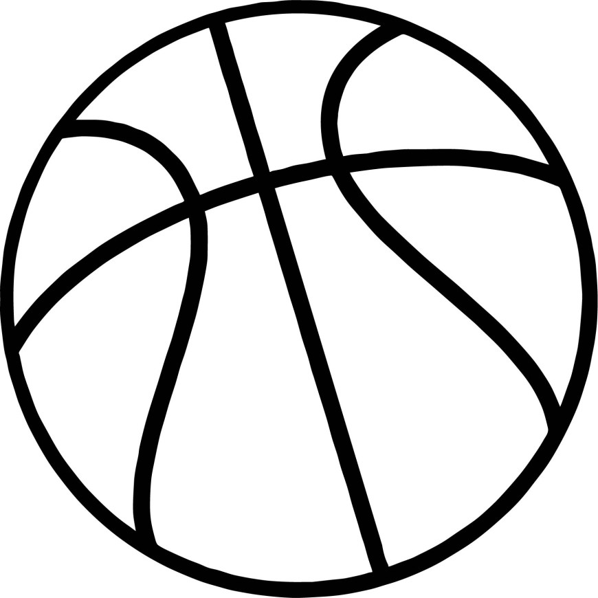 Ball Coloring Pages Just Basketball Ball Coloring Page Wecoloringpage