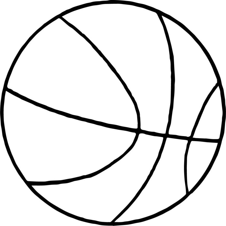 Ball Coloring Pages Thin Basketball Ball Coloring Page Wecoloringpage