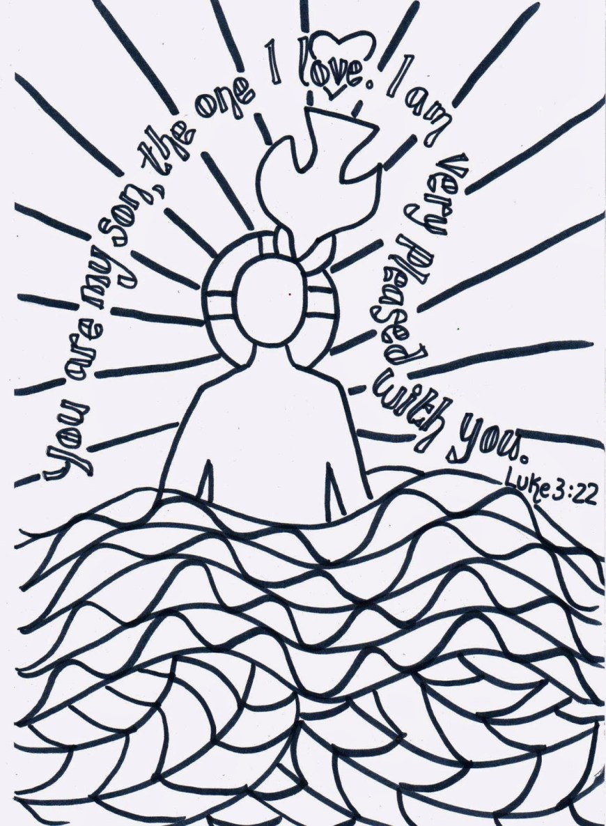 Baptism Coloring Pages Baptism Coloring Pages At Getdrawings Free For Personal Use