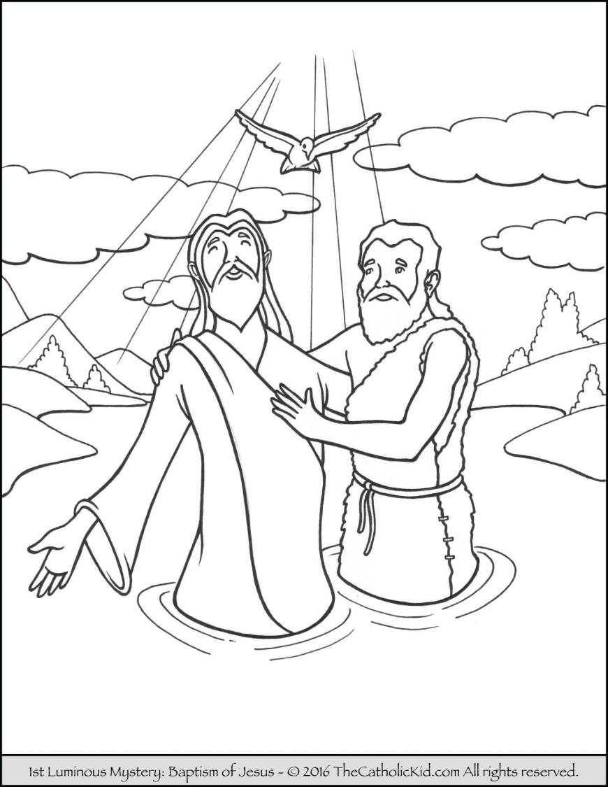 Baptism Coloring Pages Catholic Coloring Pages Capricus Ruva