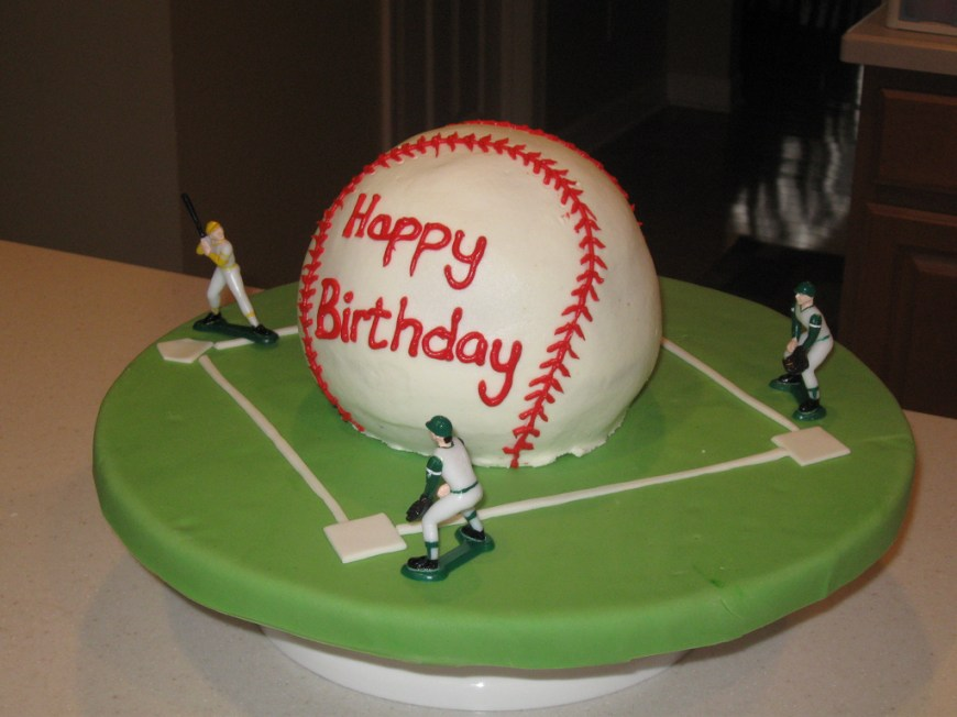 Baseball Birthday Cake Baseball Birthday Cake Baseball Cake In Buttercream Icicng Flickr
