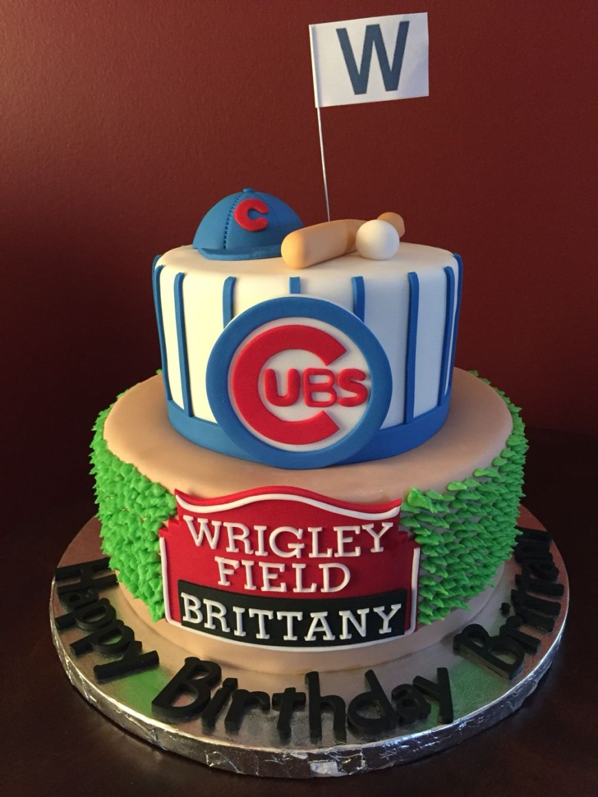 Baseball Birthday Cake Chicago Cubs Birthday Cake Birthday Cakes Birthday Cubs Cake