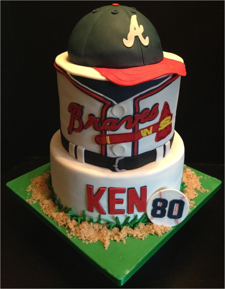 Baseball Birthday Cake Wilton Decorations Atlanta Braves