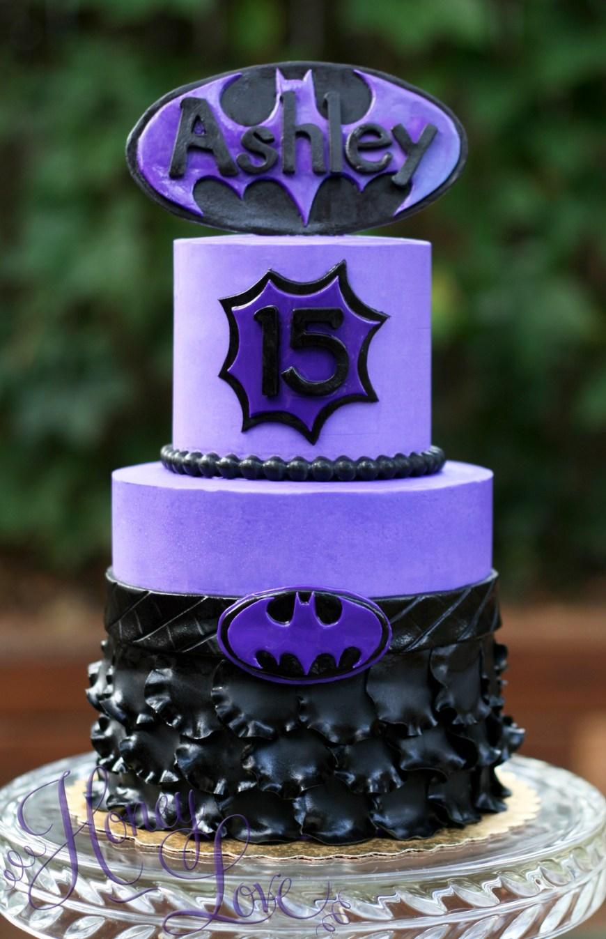 Batgirl Birthday Cake 6 Purple Batgirl Birthday Cakes Photo Batgirl Birthday Cake