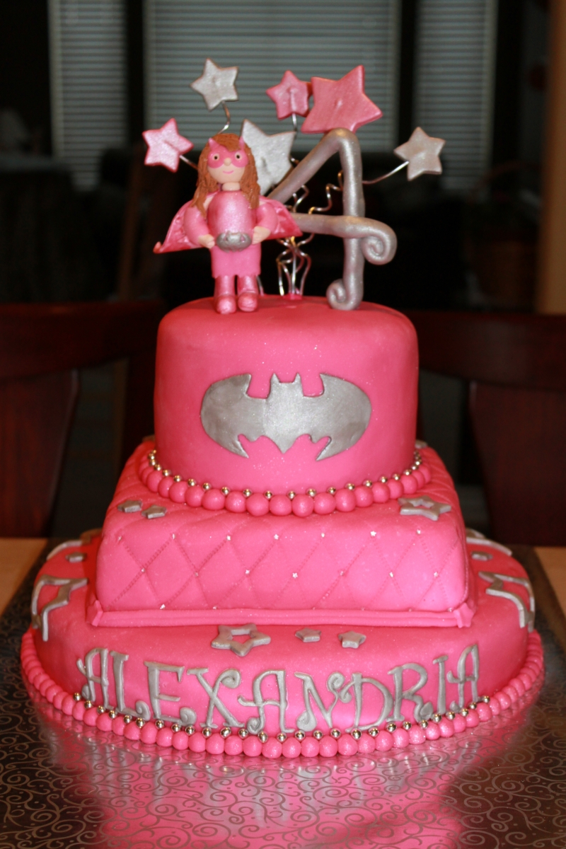 Batgirl Birthday Cake 7 Batman Birthday Cakes For Girls Photo Ba Girl Batman Cake