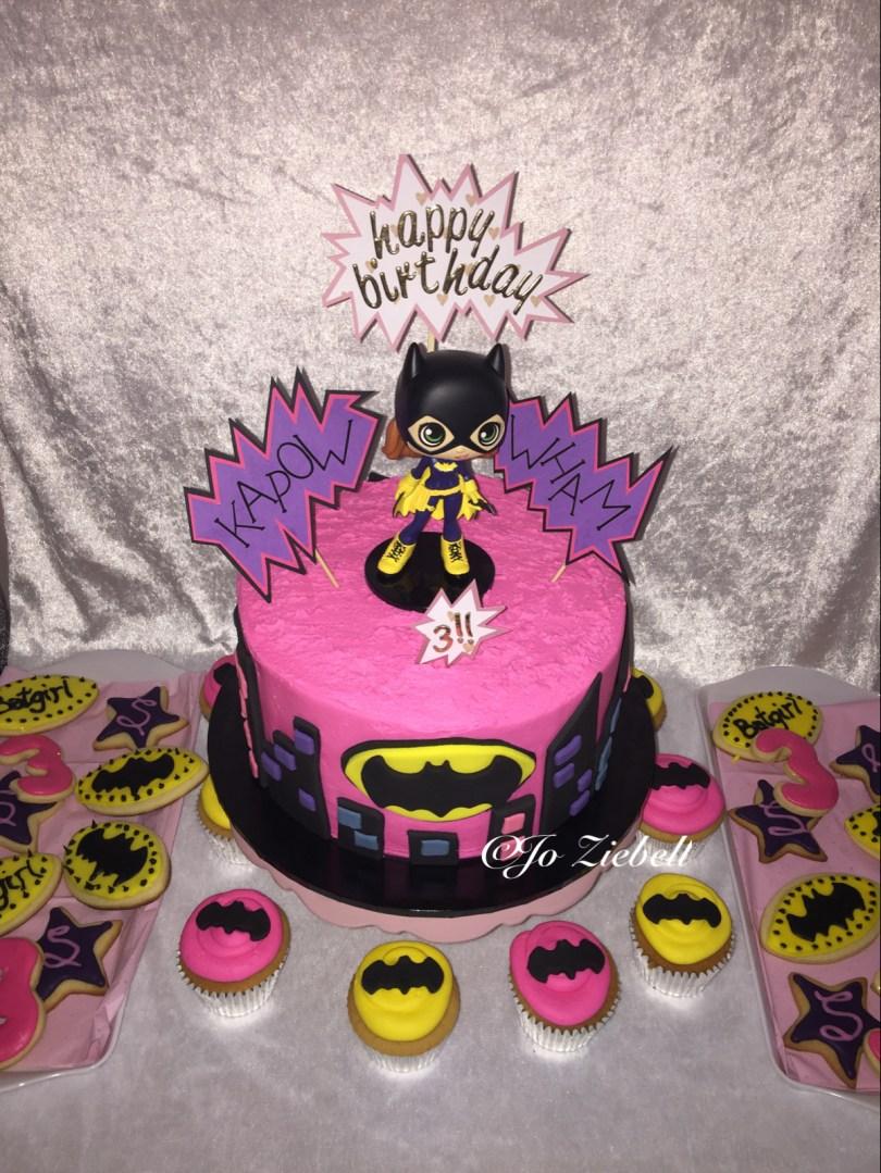 Batgirl Birthday Cake Batgirl 3rd Birthday Cake Birthday Fun Birthday 3rd Birthday