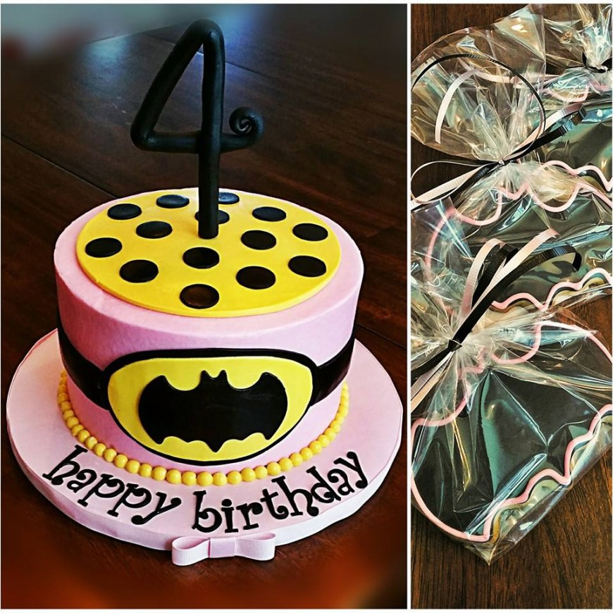 Batgirl Birthday Cake Batgirl Inspired 4th Birthday Cake With Decorated Cookies Blue