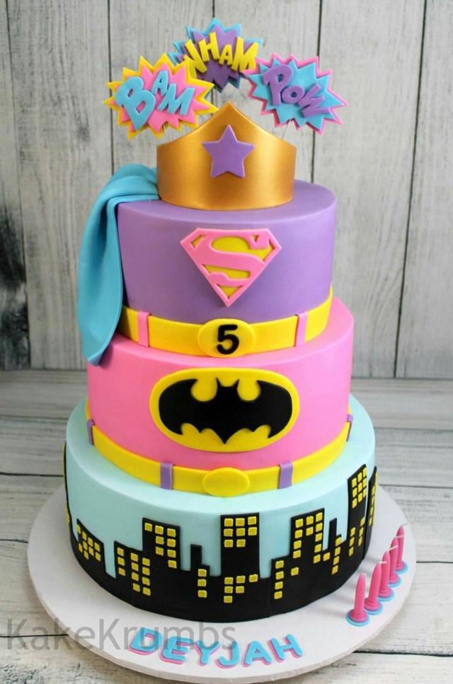 Batgirl Birthday Cake Girly Super Hero Cake Cakes Pinterest Superhero Cake Cake And