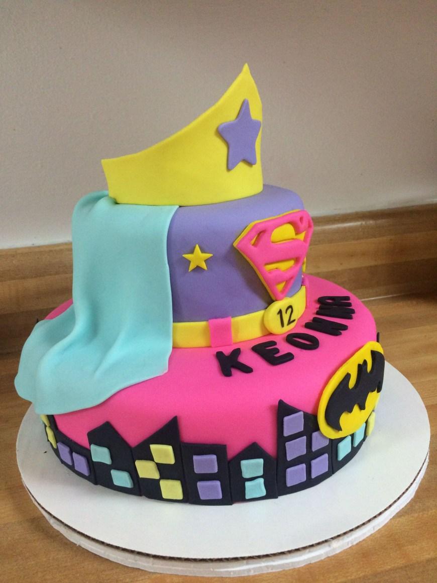 Batgirl Birthday Cake Super Girl Batgirl Cake My Cake Creations Pinterest Superhero