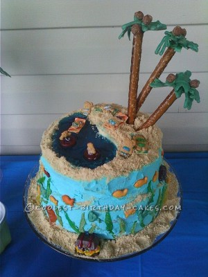 Beach Birthday Cakes Coolest Homemade All Edible Beach Birthday Cake