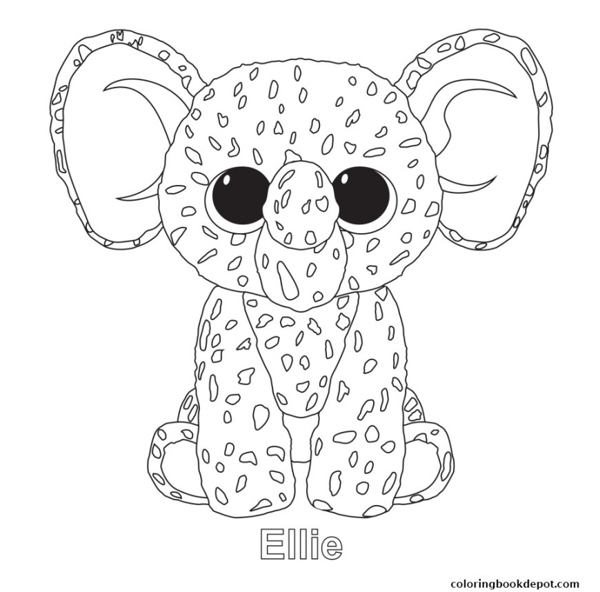 Beanie Boo Coloring Pages 1482947206ellie Beanie Boo Coloring Pages 8 Futurama