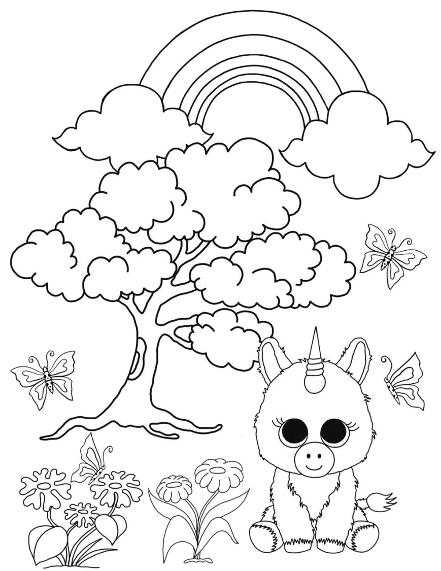 Beanie Boo Coloring Pages Free Beanie Boo Coloring Pages Download Print Cats Dogs And Unicorns