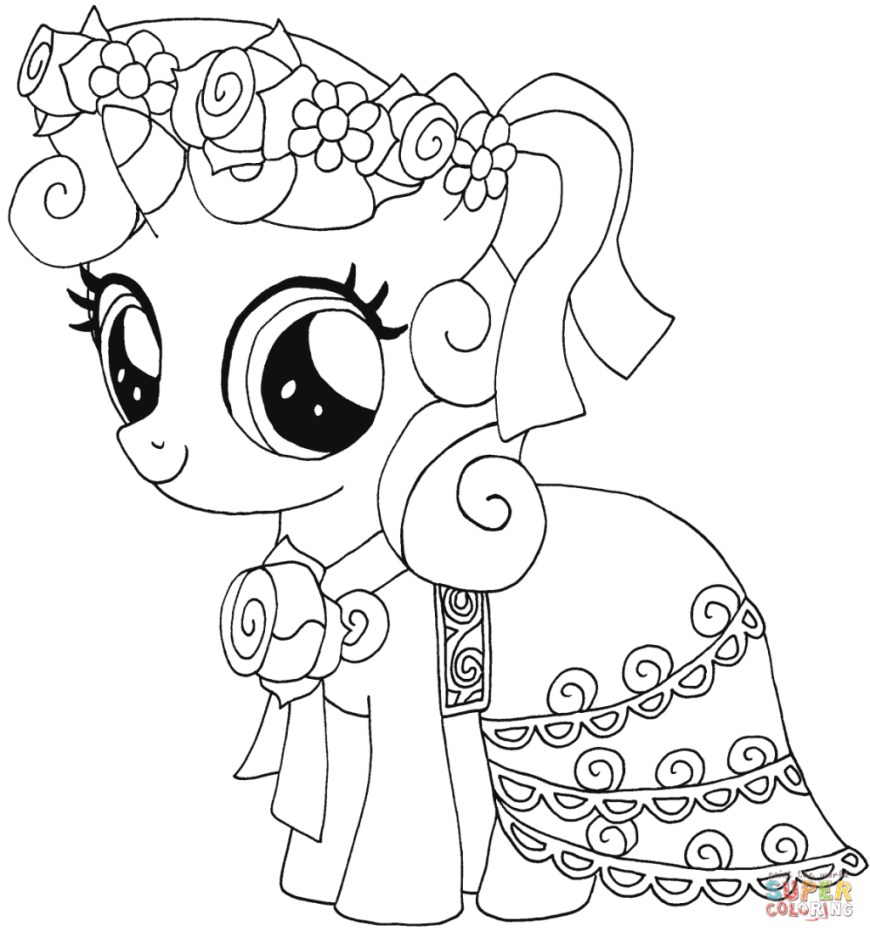 Belle Coloring Pages Coloring Page My Little Pony Sweetie Belle Coloring Page Pages