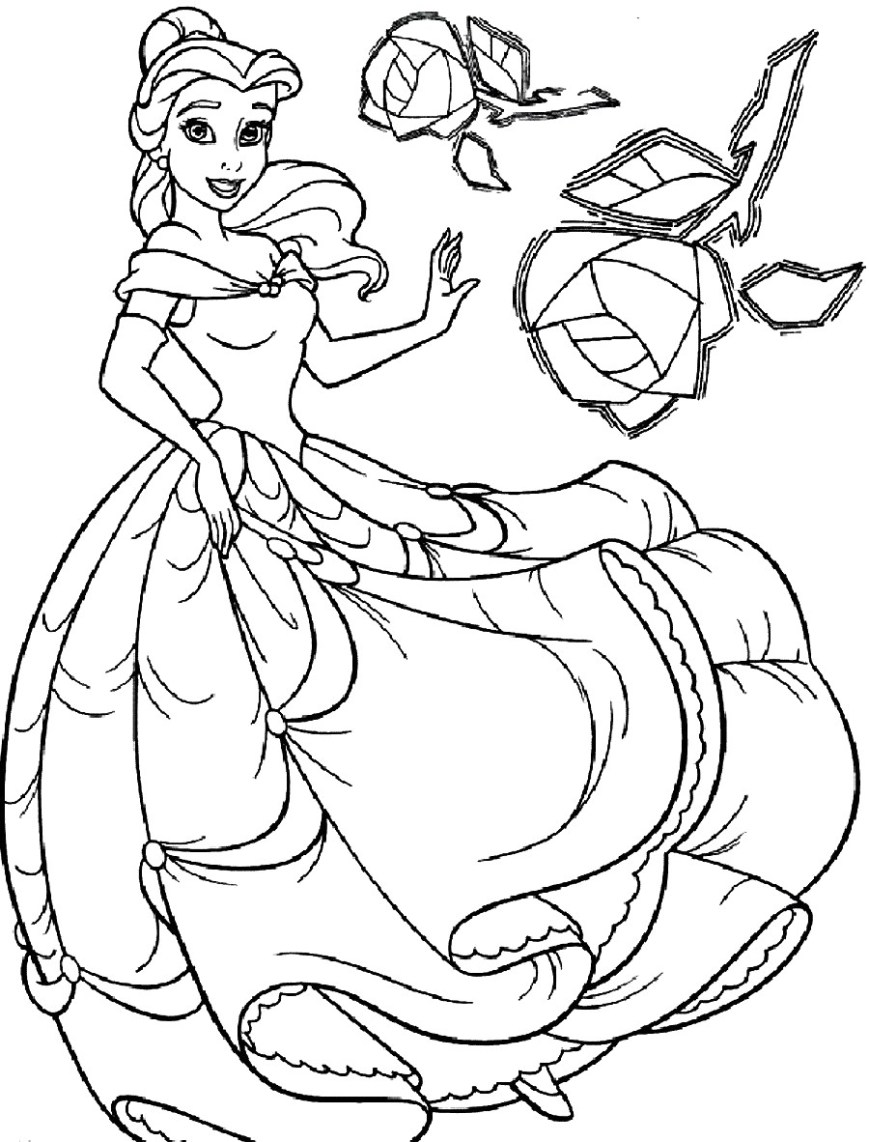 Belle Coloring Pages Disney Princess Belle Coloring Pages Bell Page Thanhhoacar