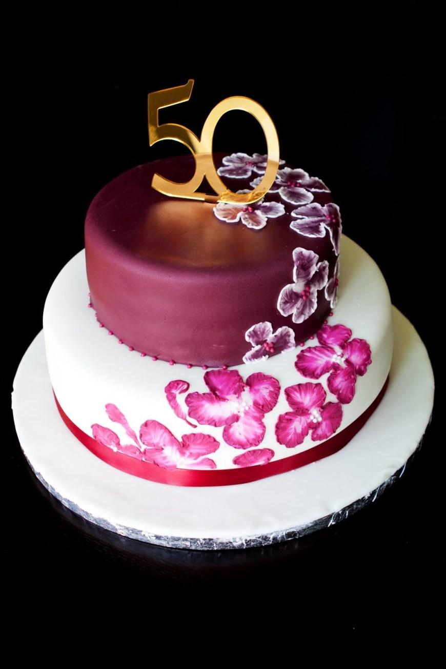 Birthday Cake Design Unique Elegant Birthday Cakes Custom Cakeelegant Design50th