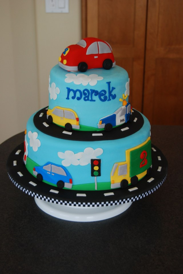 Birthday Cake For Boy Vehicles Birthday Cake Made For A Little Boy Who Loves Anything