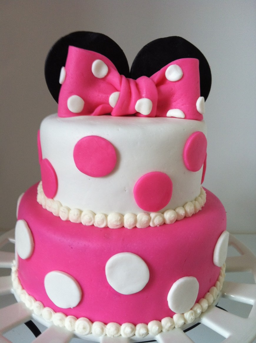 Birthday Cake For Girls 13 2nd Birthday Cakes For Girls Photo Minnie Mouse Birthday Cakes