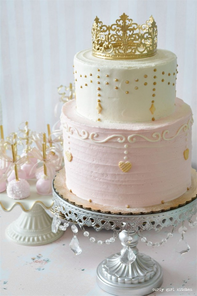 Birthday Cake For Girls Pink And Gold Princess Party Cake Food Pinterest Birthday