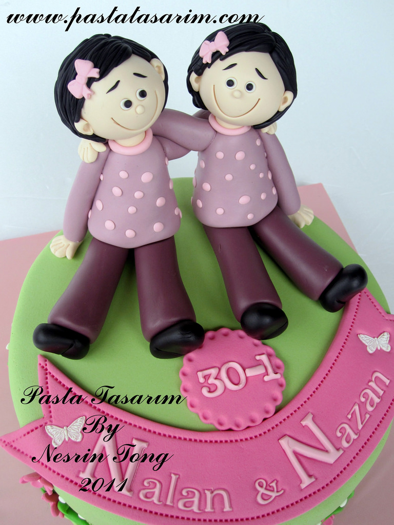 Birthday Cake For Sister Twins Sisters Birthday Cake Wwwpastatasarim Cake Nesrn