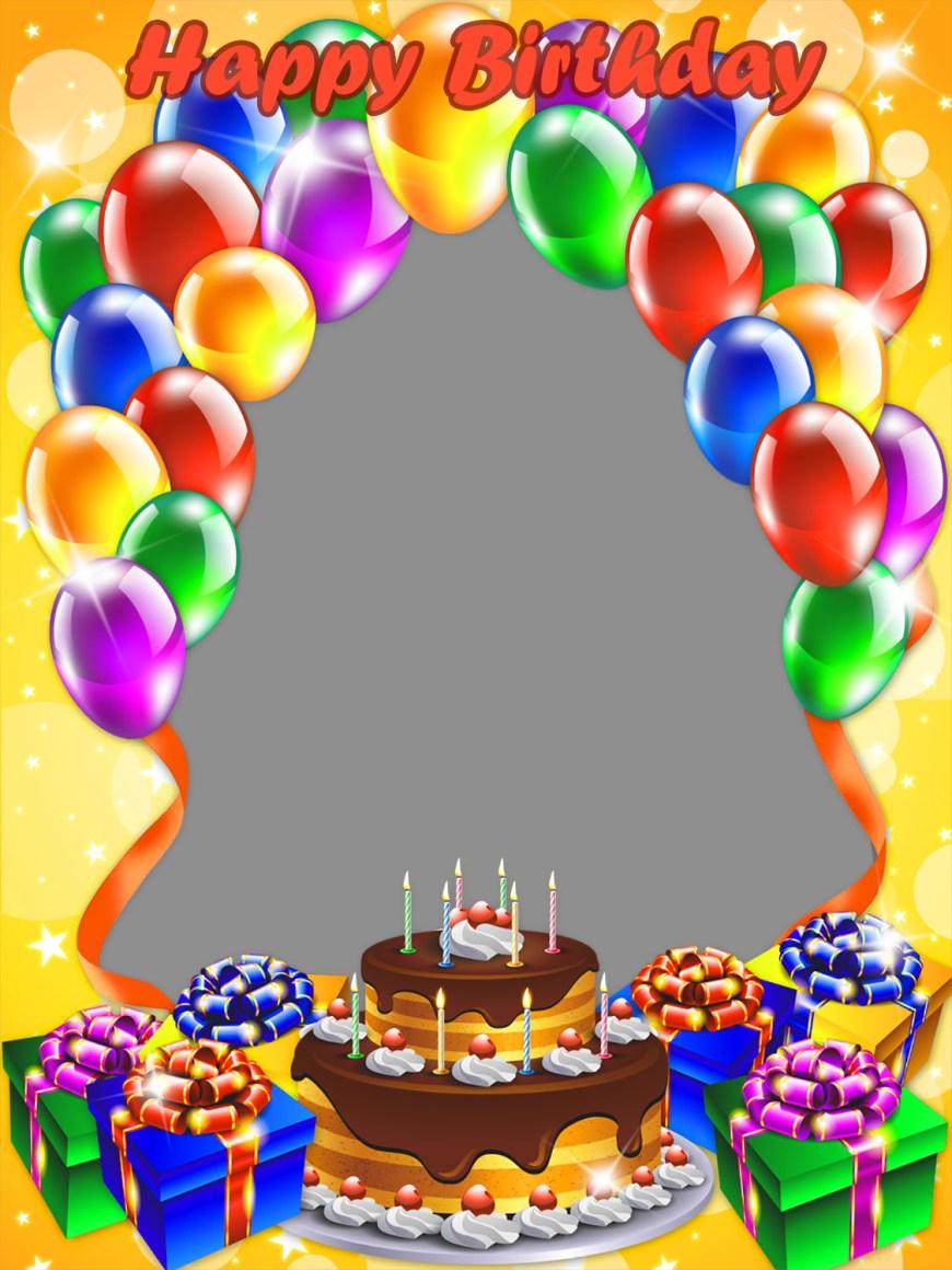 Birthday Cake Photo Frame 40 Happy Birthday Frames Loonapix