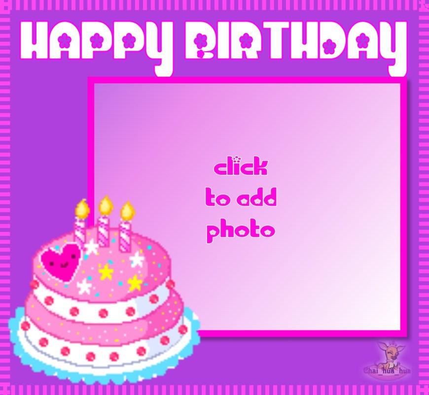 Birthday Cake Photo Frame Birthday Photo Frames Hd Pertaining To Birthday Cake Frame