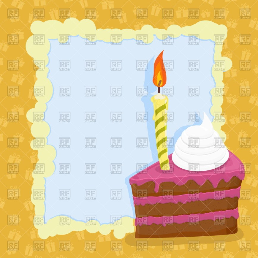 Birthday Cake Photo Frame Cartoon Birthday Cake Frame Vector Image Vector Artwork Of Food
