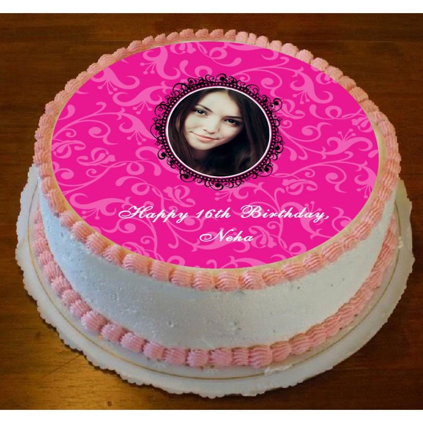 Birthday Cake Photo Frame Mirror Frame Personalized Photo Cake
