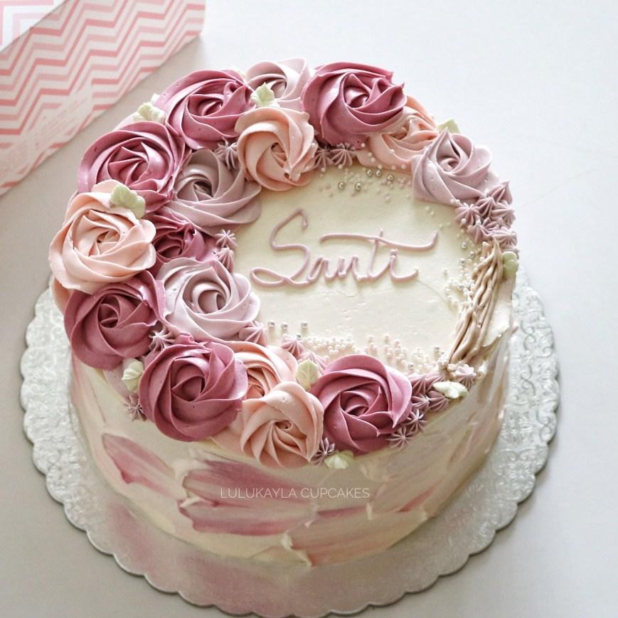 Birthday Cakes With Flowers Flower Buttercream Cake Torten Pinterest Decorating