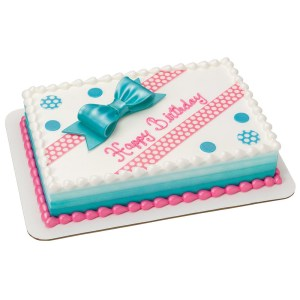 Birthday Sheet Cakes Birthday Bliss Decoshapes And Gum Paste Bow 14 Sheet Cake Decopac