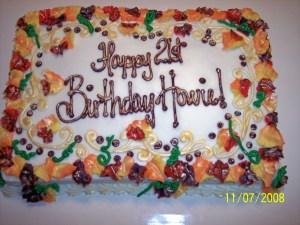 Birthday Sheet Cakes Fall Themed Birthday Sheet Cake Cakes Amy