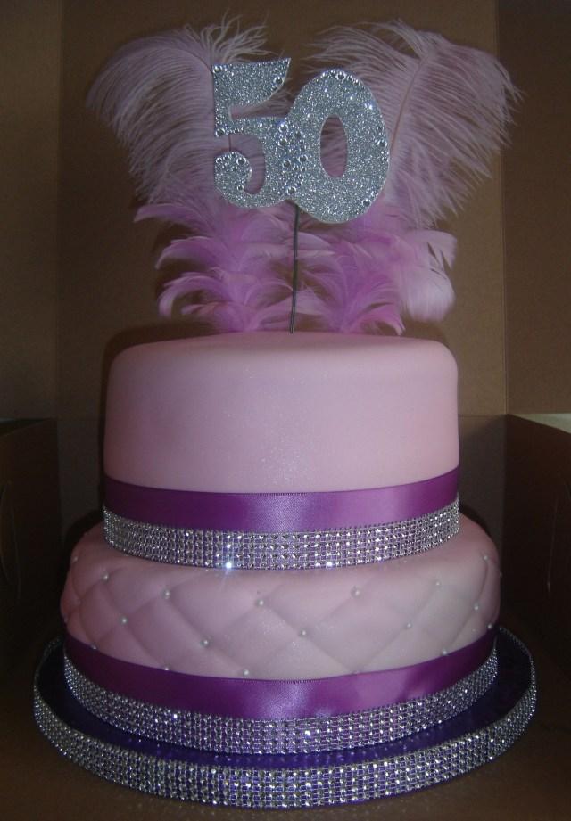 Bling Birthday Cakes 2 Tier 50th Bling Birthday Cake Top Tier Red Velvet And Bottom