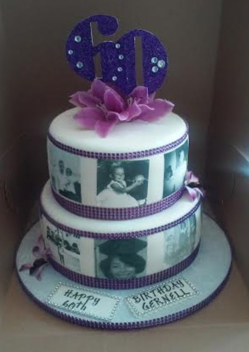 Bling Birthday Cakes 2 Tier 60th Bling With Photos Birthday Cake Cakecentral