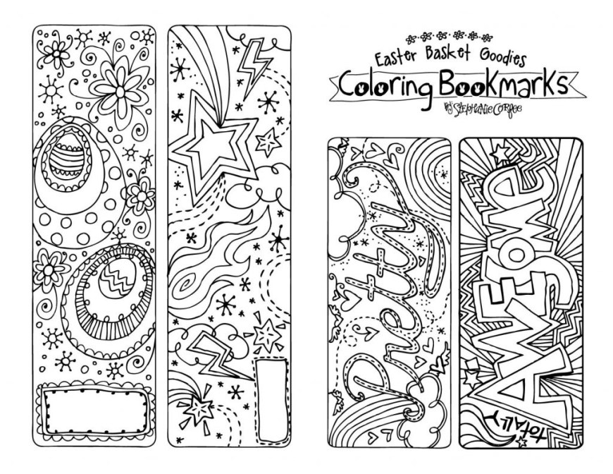 Bookmark Coloring Pages Coloring Pages Coloring Pages Cute Printable Bookmarks Toor